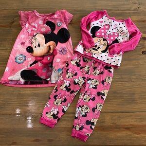 Disney Minnie Mouse Pj bundle. Size 2t.